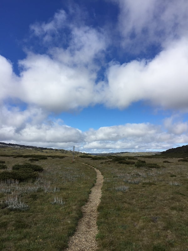 The wide-open sky and gently undulating alpine High Country, Victoria and southern NSW