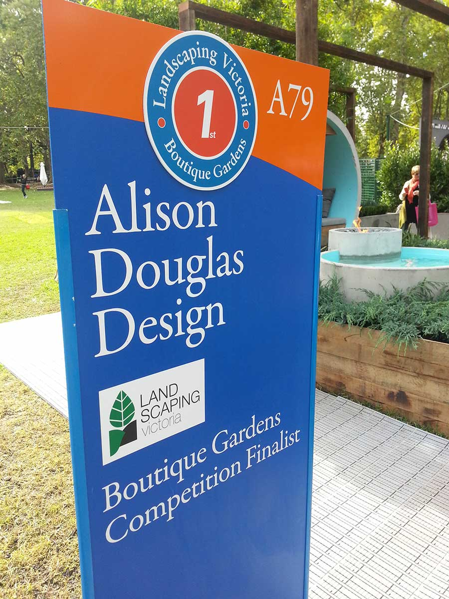 Winning the Boutique Gardens Gold Medal