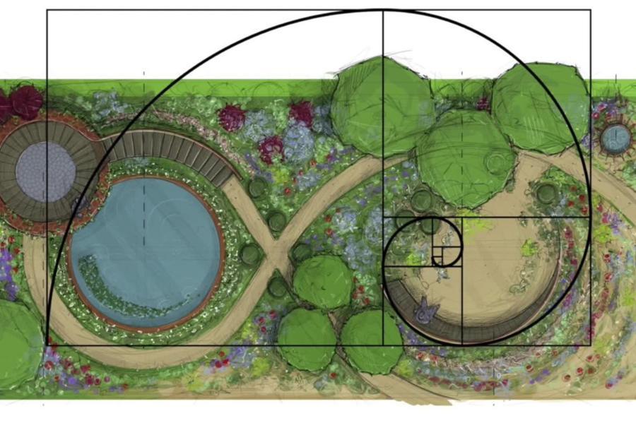 RHS Chelsea Show Mathematics Garden - GardenDrum