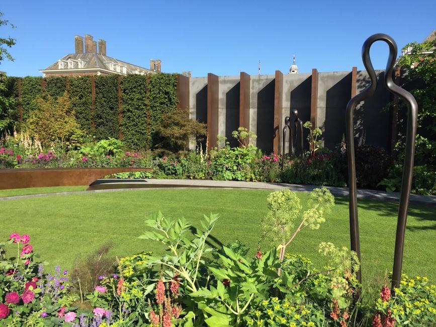The Chelsea Barracks Garden, designed by Jo Thompson awarded a gold medal. Chelsea Flower Show 2016