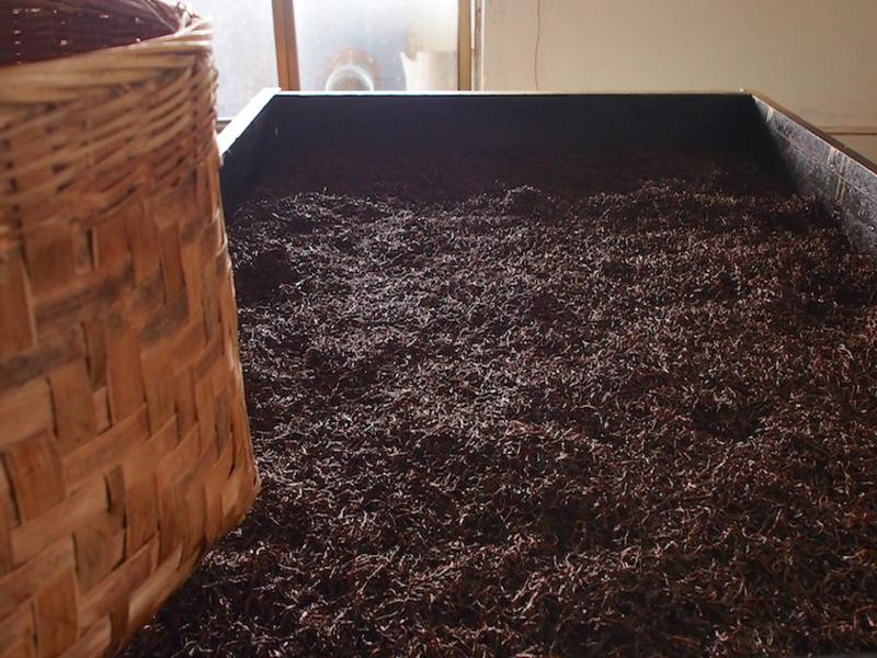 Black tea drying