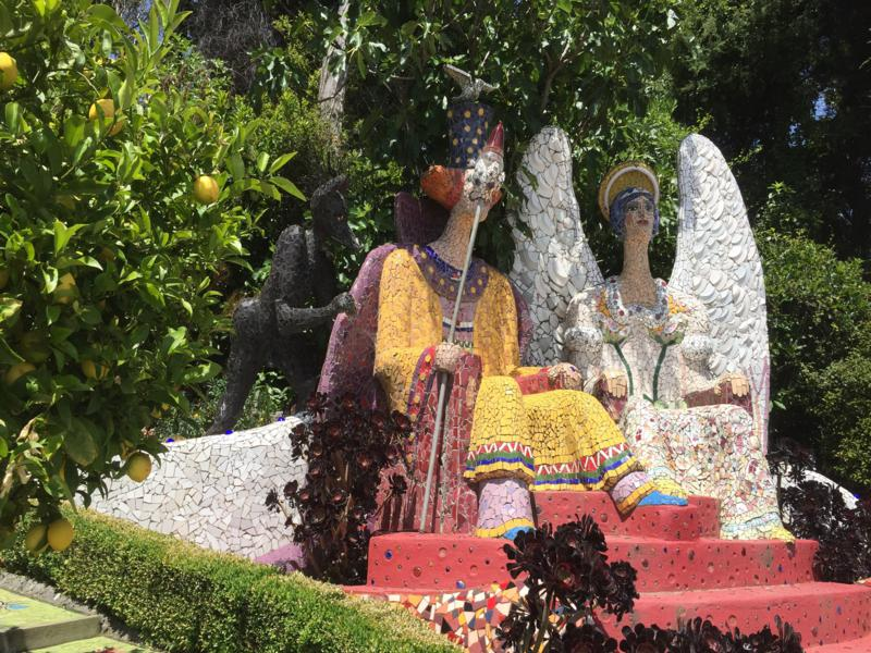 Mosaic King and Queen at Giant's House