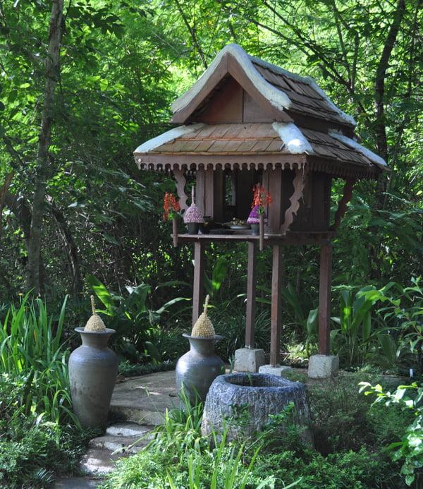 Spirithouse in Pha Tad Ke Botanical Garden. Laos