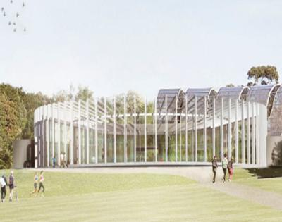 The Calyx is the new horticultural space for rotating exhibitions at the Sydney Botanic Gardens.