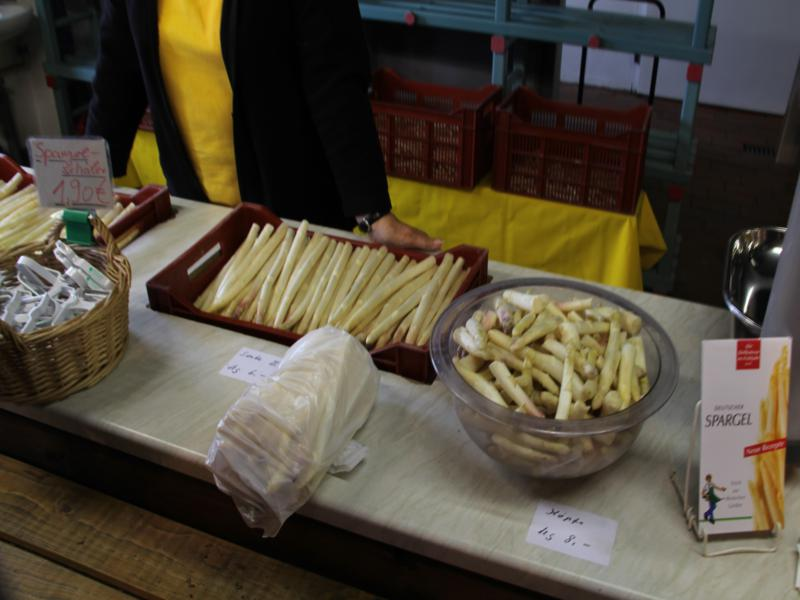 White asparagus sold from the farm in Germany
