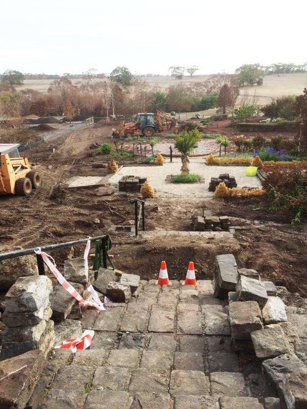 Narmbool post-fire garden restoration is in progress. [Photo Gillian Armstrong]