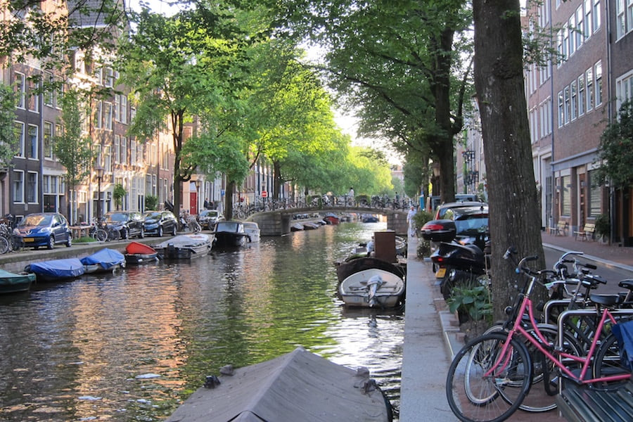 Sedate canals and cycling make Amsterdam a relaxed place