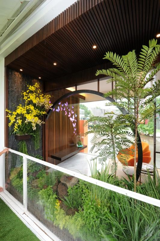 Balcony Gardens, Andy Eng awarded Gold and Best of Show. Photo courtesy Singapore Garden Festival