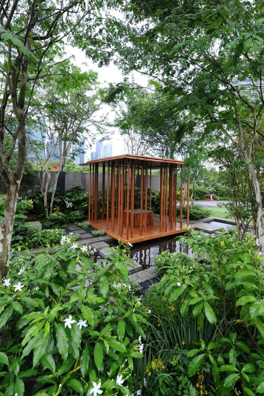 Landscape Gardens, Adam Frost awarded Gold and Best Construction. Photo courtesy Singapore Garden Festival