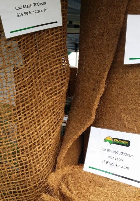 Coir blanket and mesh by Aussie Erosion