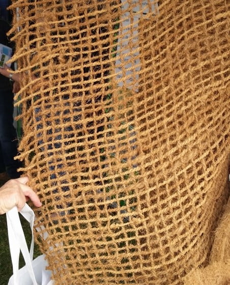 Coir mesh - a solution to scrub turkey damage in your garden?