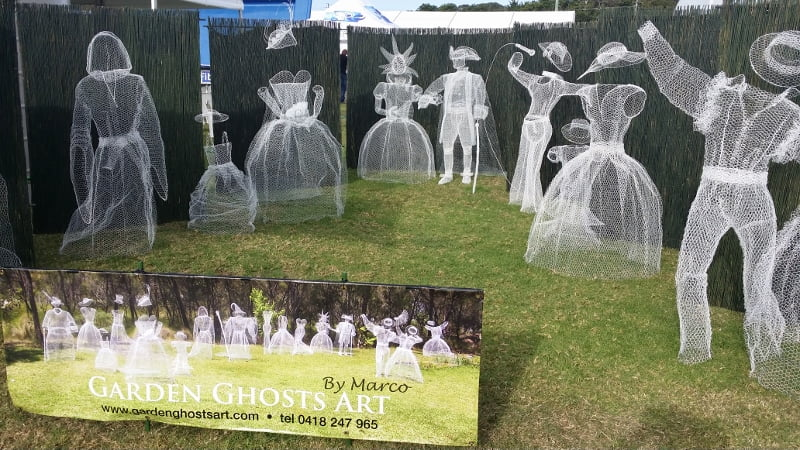 Garden ghosts - just one of the eye-catching displays at the Garden Expo