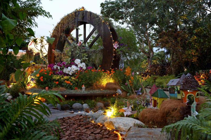 Gardeners' Cup 2016 Best Eco-friendly Garden Award, Fairies Wheel by North East CDC. Photo courtesy Singapore Garden Festival