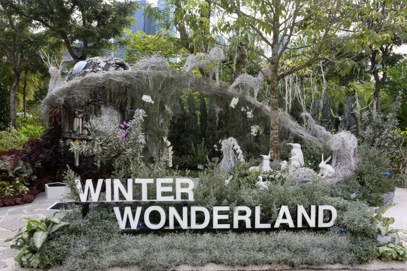 Gardeners' Cup 2016 Best Educational Garden, Winter Wonderland by South East CDC. Photo courtesy Singapore Garden Festival