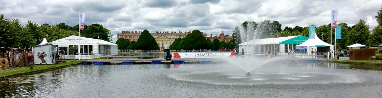 Hampton Court Palace: The setting for the largest garden show in the world. Photo by Janna Schreier