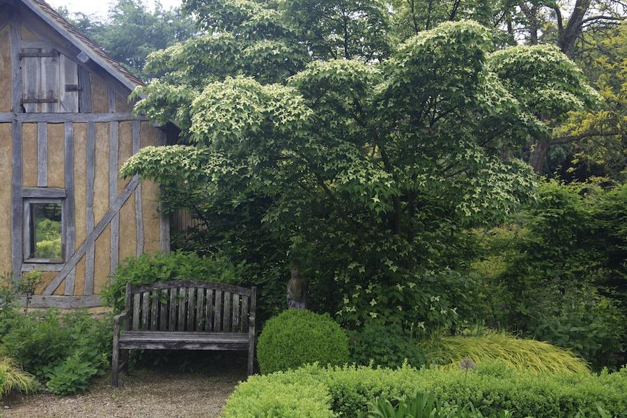 3. Rebuilt French farm workshed in Les Jardins en Le Pays d'Auge