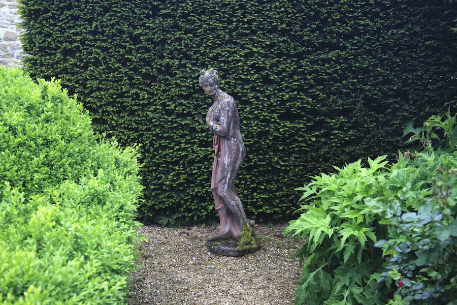 5. Classical statue in Les Jardins en Le Pays d'Auge