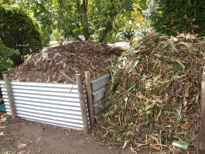 Compost bins ready for turning. Photo Ian Wintle