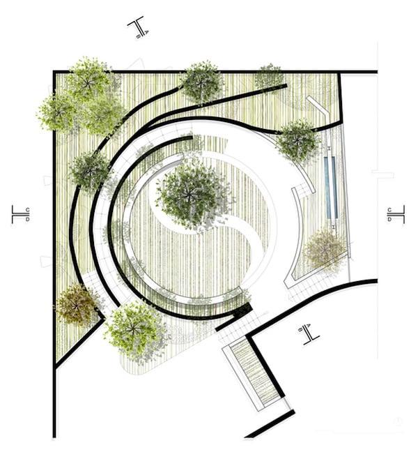 Plan for Cockfighting arena by Nikolas Briceño