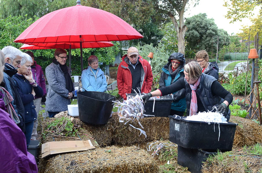 Open Gardens Victoria's compost workshop. Photo Annabel Reid