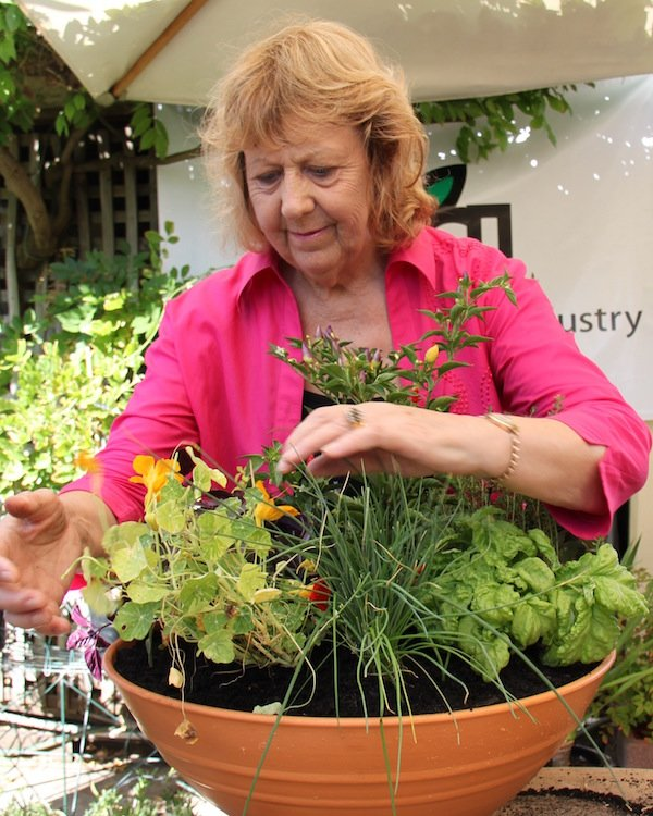 Doing what I love best - growing and talking herbs