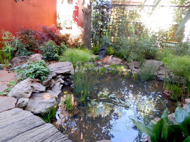 Water feature in Brenda's garden AFTER
