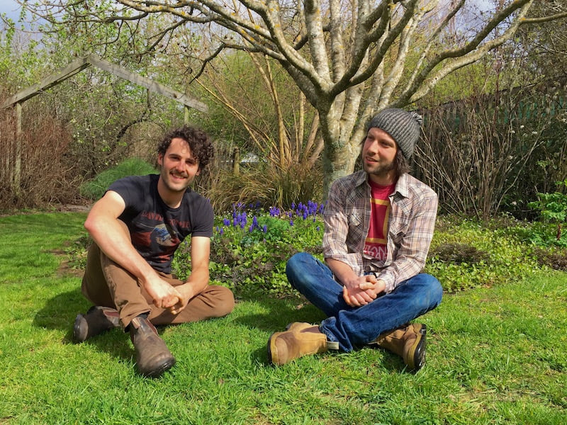 David Doukidis and Matt Bendall at Wychwood. Photo courtesy Wychwood Garden