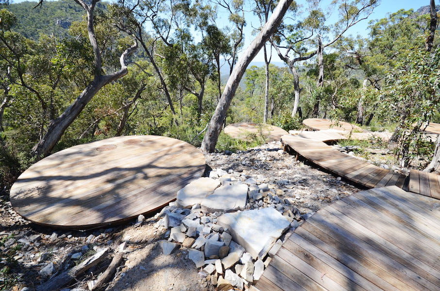 Hard Structures in the Landscape - Warrandale Industries, Grampians Project (Hikers Camp)