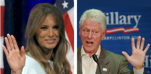 Melania and Bill