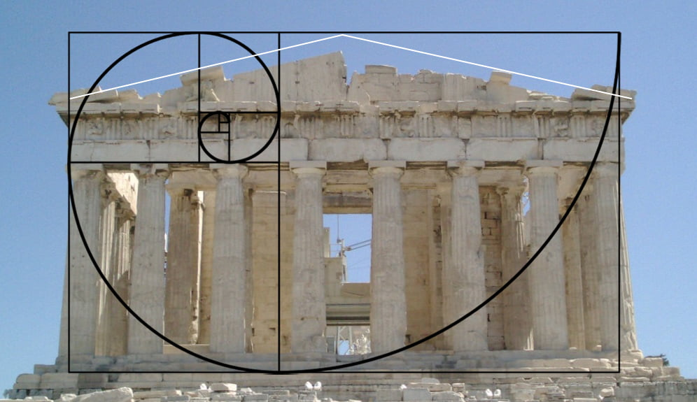 Parthenon with Golden ratio