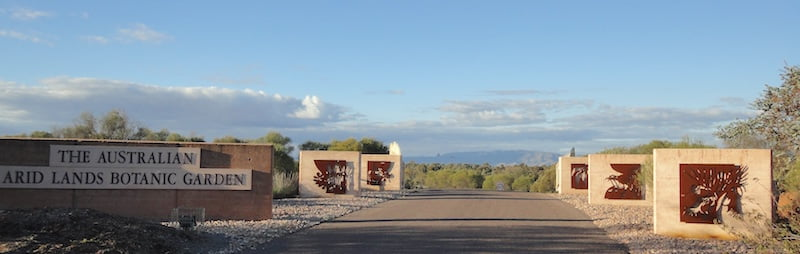 Entry to the Australian Arid Lands Botanic Garden at Port Augusta , South Australia