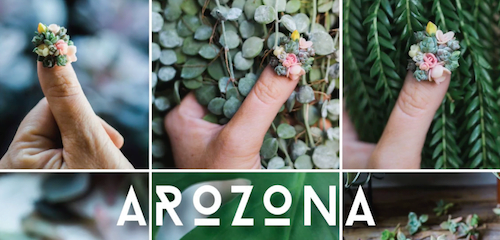 AROZONA succulent nails