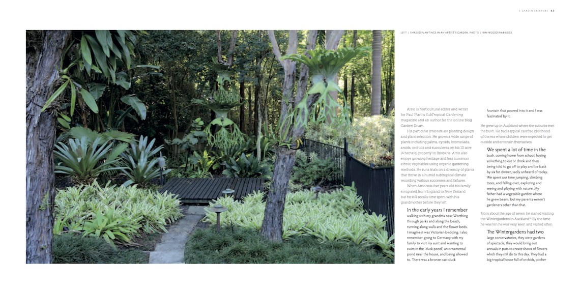 Influential Australian Garden People - garden design by 'garden creator' Arno King. Photo Kim Woods Rabbidge