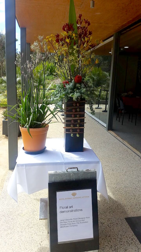 Floral art demonstrations at the Kangaroo Paw Celebration