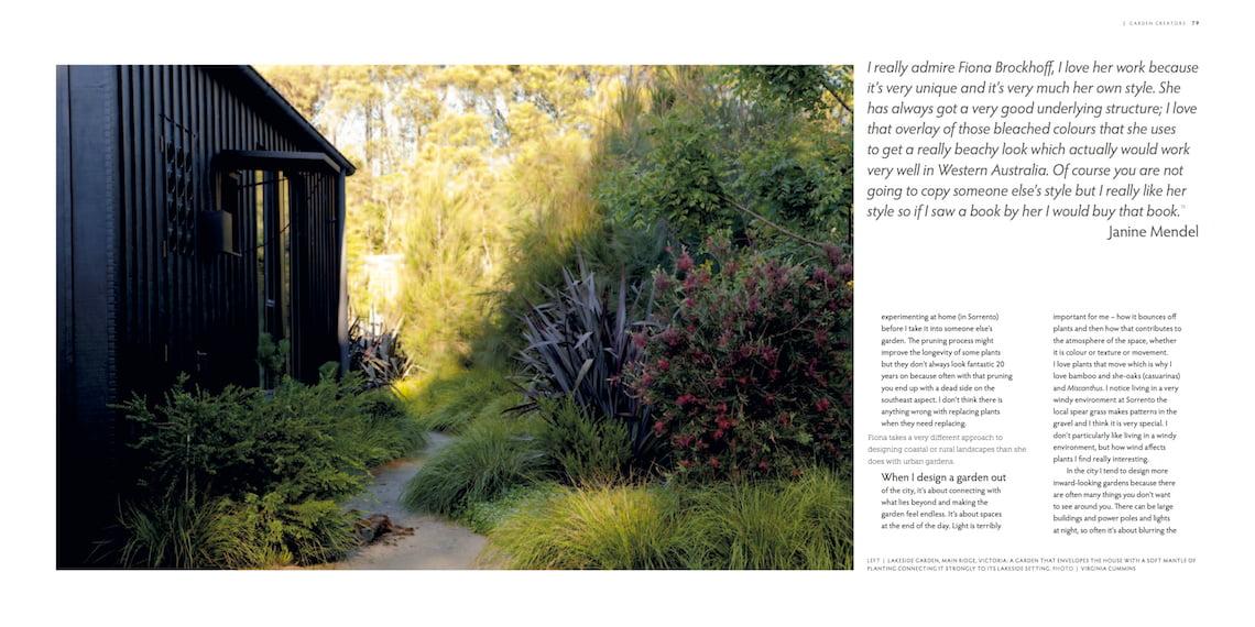 Influential Australian Garden People by Anne Vale - design by 'garden creator' Fiona Brockhoff