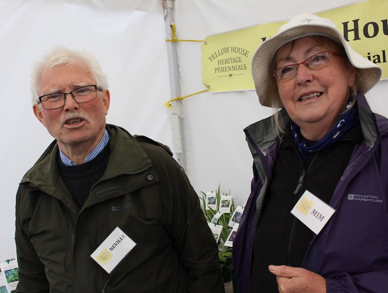 Neville and Mim Burkett from Yellow House Heritage Perennials