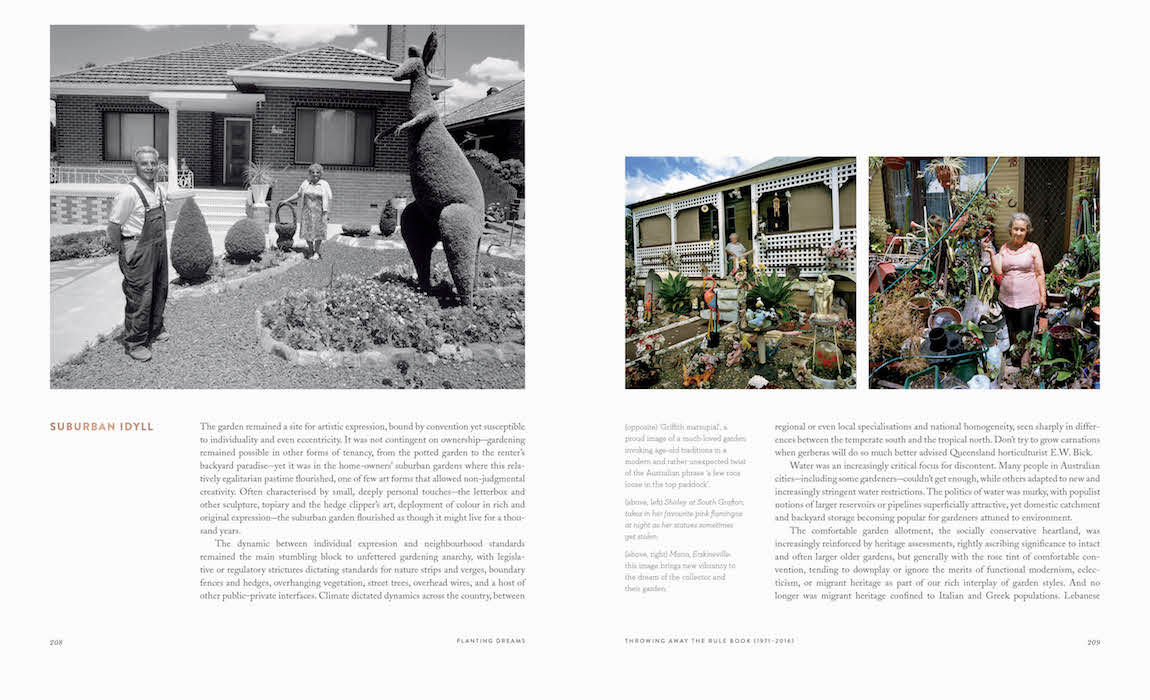 Suburban Idyll in 'Planting Dreams - Shaping the Australian Garden' Pages 208-209