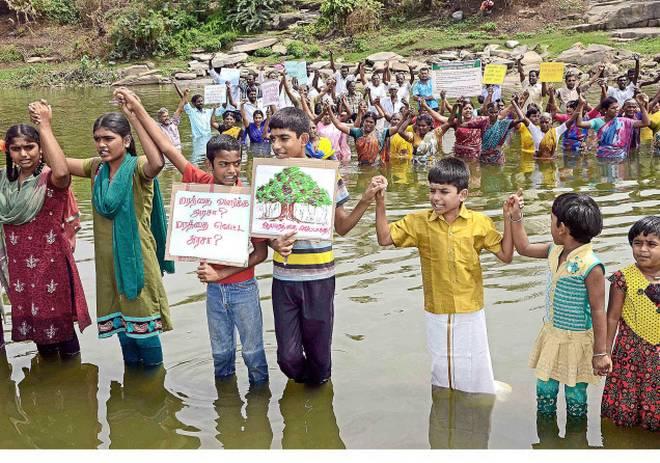 Banyan tree protesters, Serayampalayam