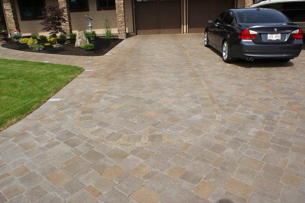 Driveway design and construction by Creative By Design, Calgary, Alberta, Canada