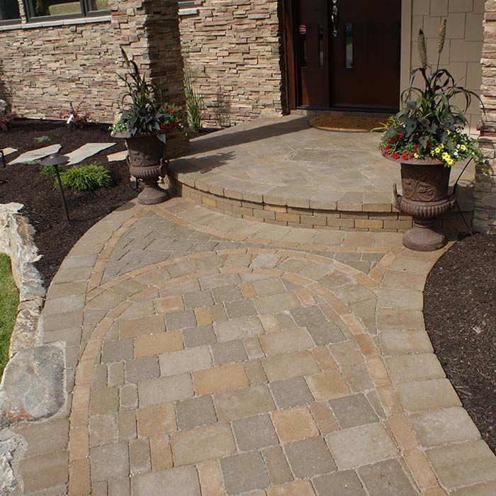 Porch and path design and construction by Creative By Design, Calgary, Alberta, Canada