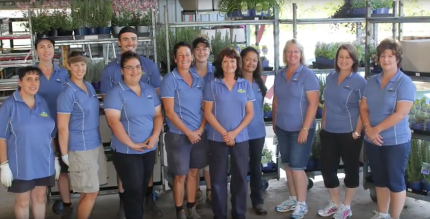 The staff at Cameron's Nursery are committed to the company's sustainability goals